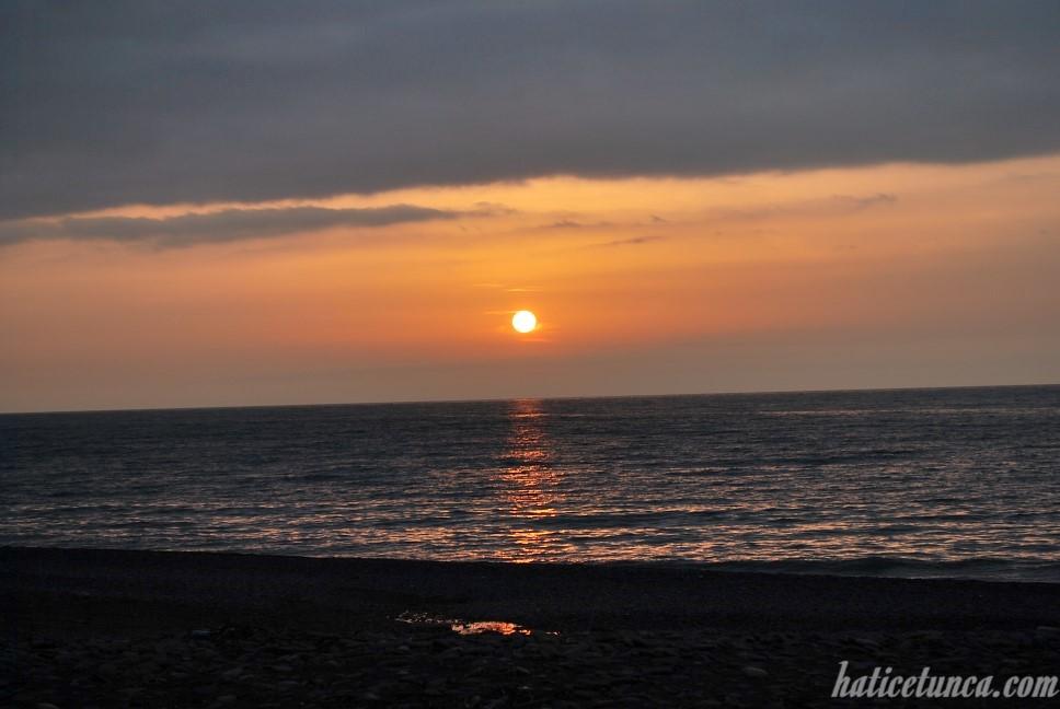 Cide günbatımı
