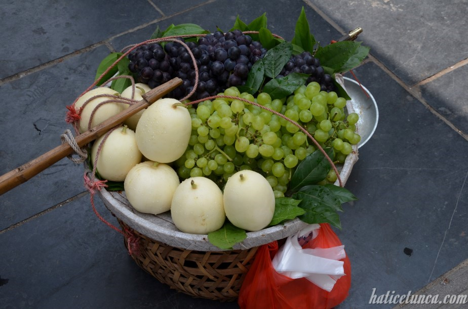 Grapes and melons