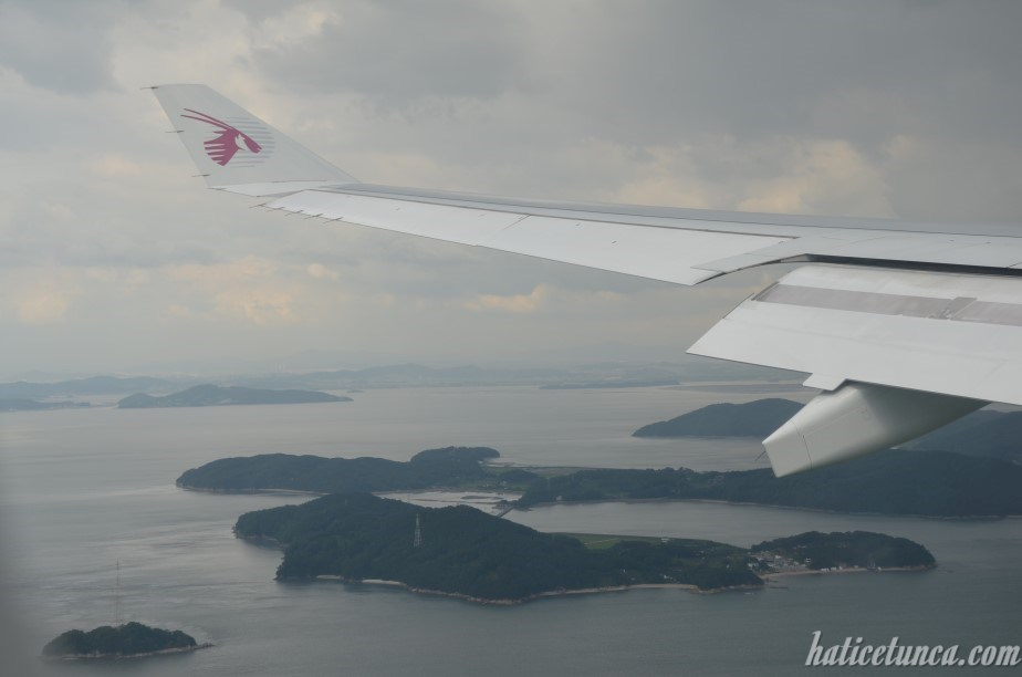 Incheon from plane
