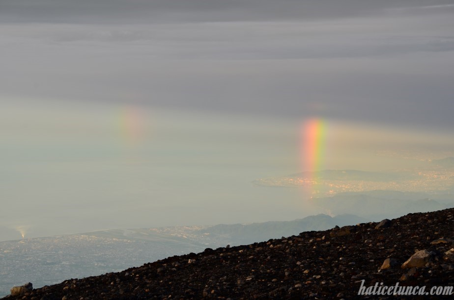 Double rainbow from Mount Fuji