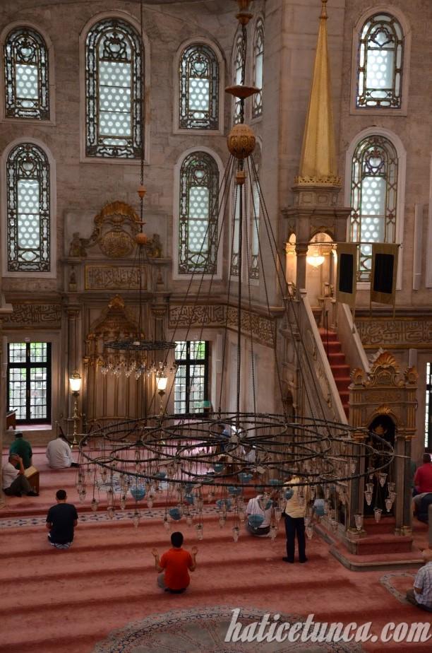 Eyüp Sultan Camii-İç mekan