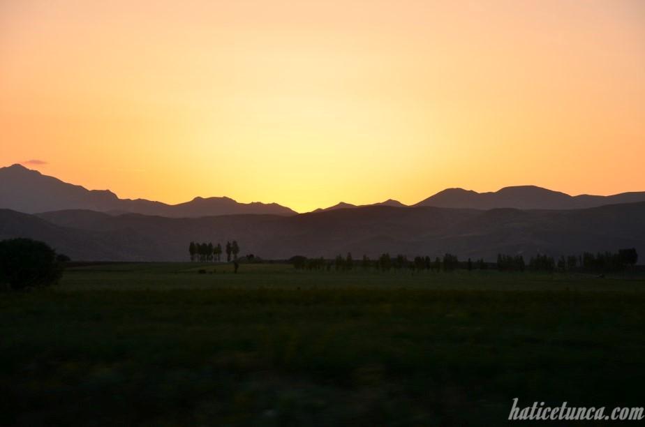 Erzurum'dan günbatımı
