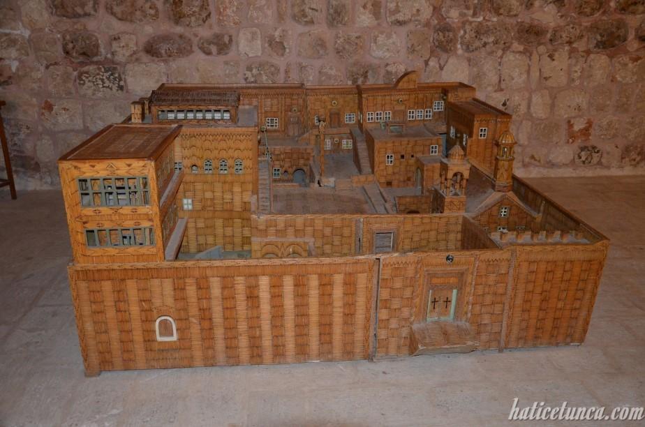 Mutfak-Mor Gabriel Manastırı maketi