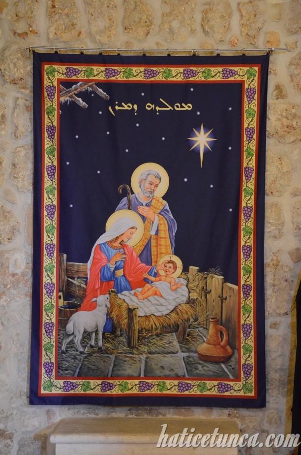 Mor Gabriel Manastırı-İsa'nın doğuşu tasviri