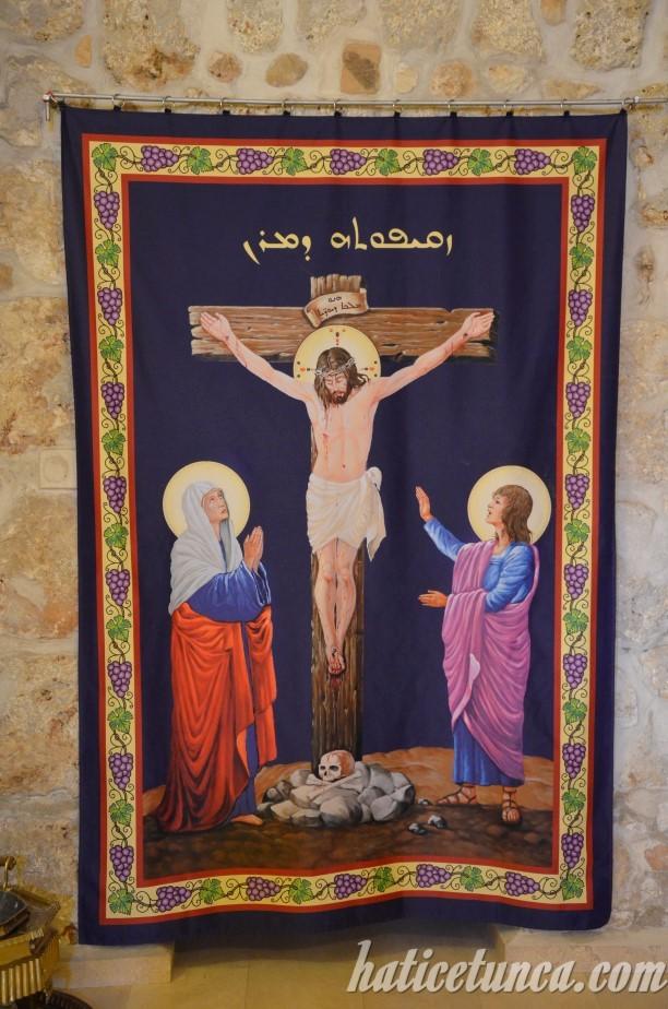 Mor Gabriel Manastırı-İsa'nın çarmıha gerilişi tasviri