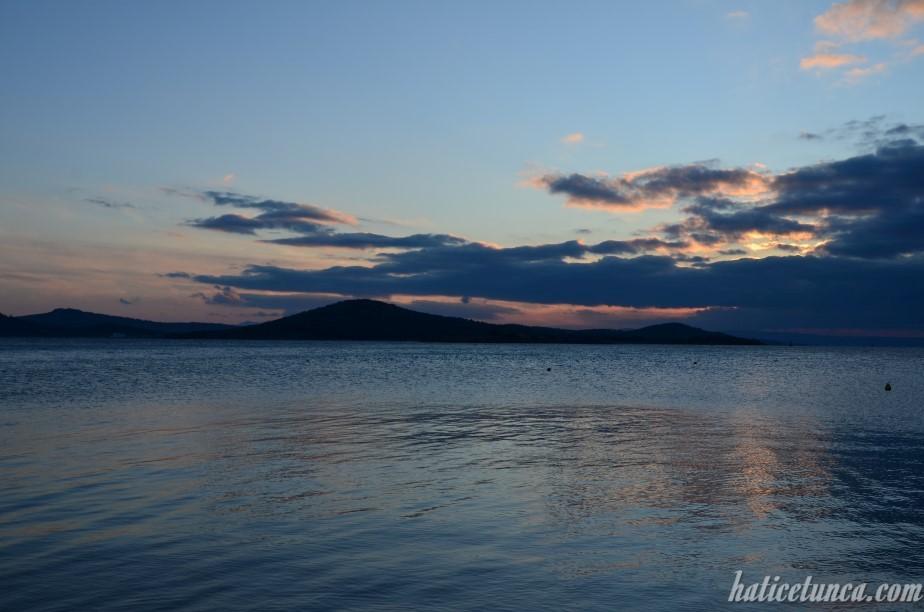 Cunda Adası'ndan gün batımı