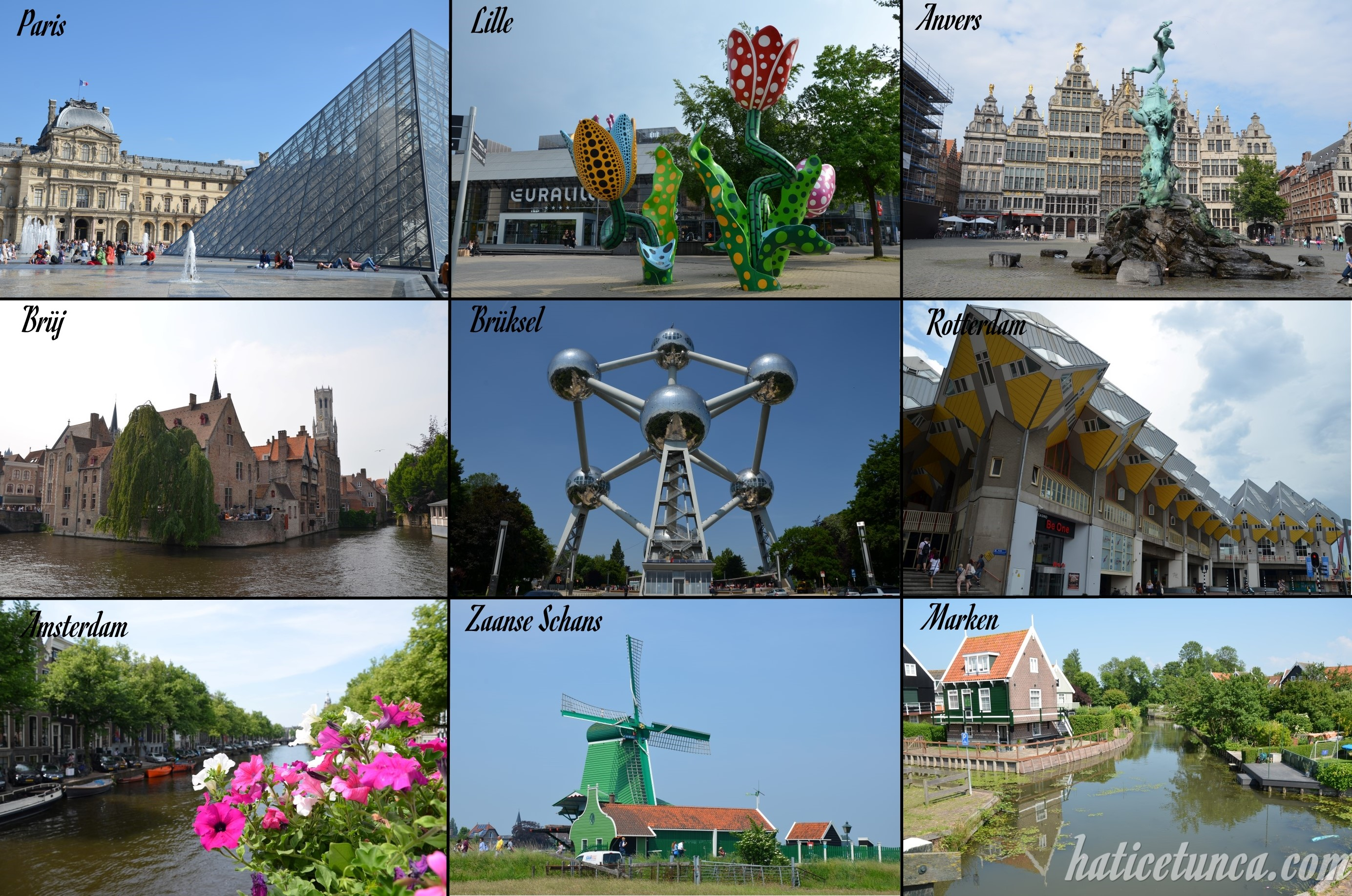 Fransa-Belçika-Hollanda turu